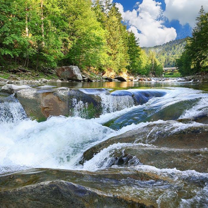 Spring river landscape