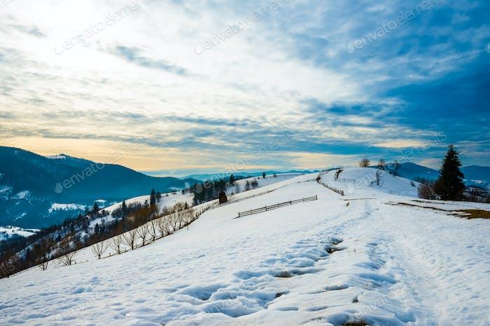 Beautiful panorama of mountain slopes