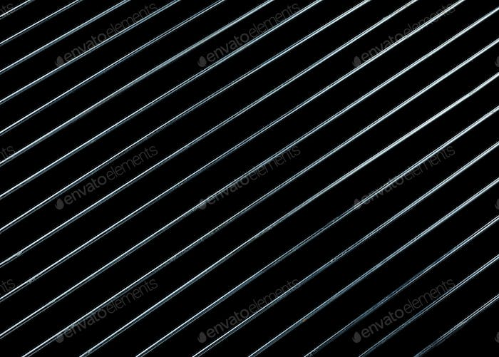 steel grating isolated on black background
