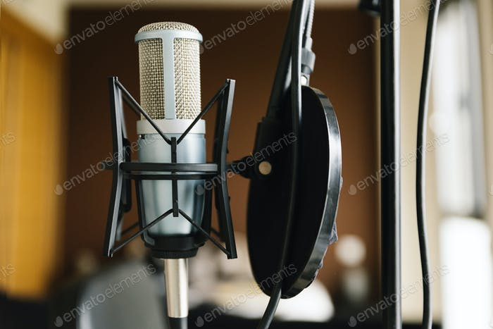 Studiomikrofon Nahaufnahme