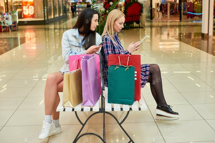 Young shopaholics addicted to gadgets