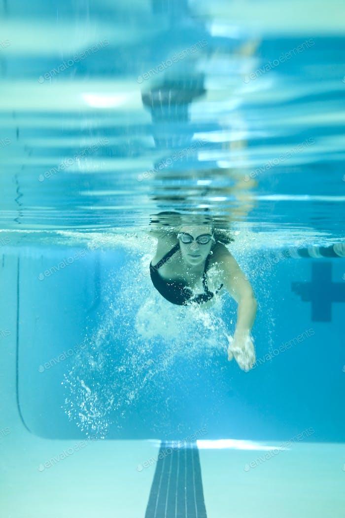 underwater woman