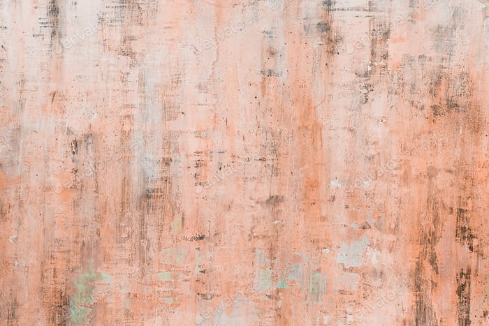 Grunge texture of orange painted wall