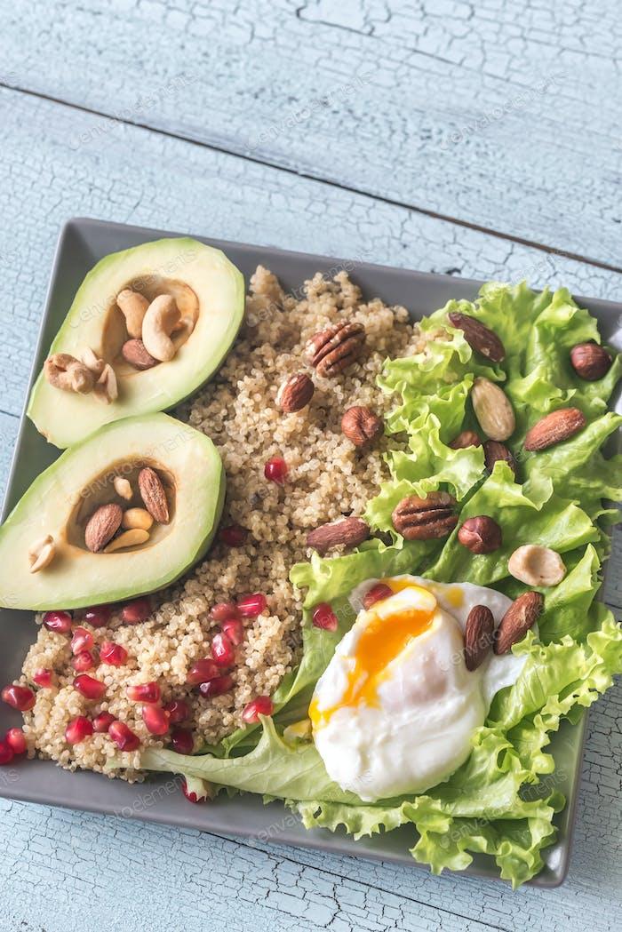 Portion of healthy breakfast