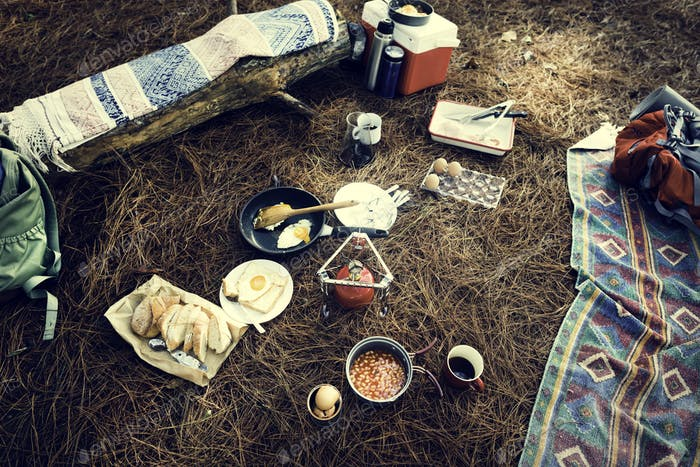 Hiking Camping Food OutdoorsConcept