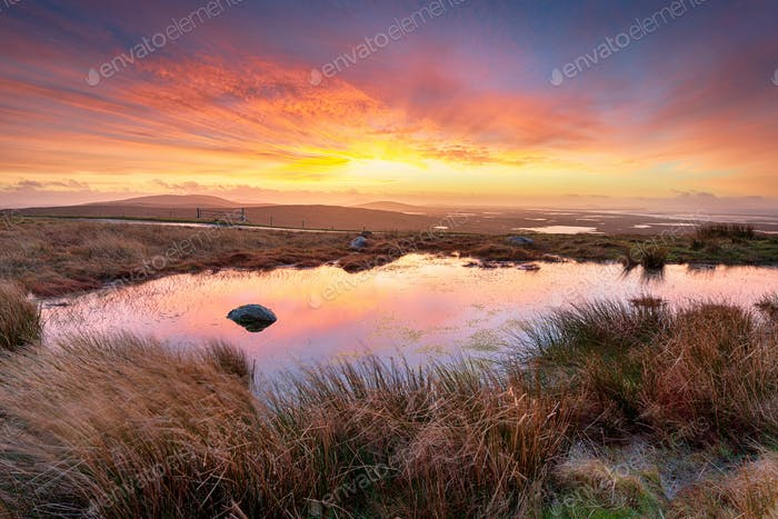 Stunning Sunrise at Cleitreabhal a'Deas on the Isle of Uist