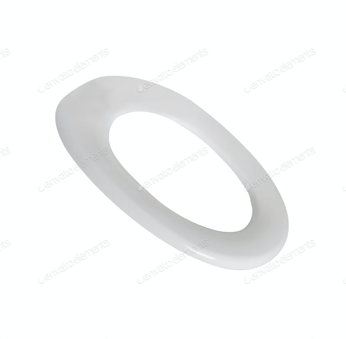 Lid for toilet seat isolated on white background