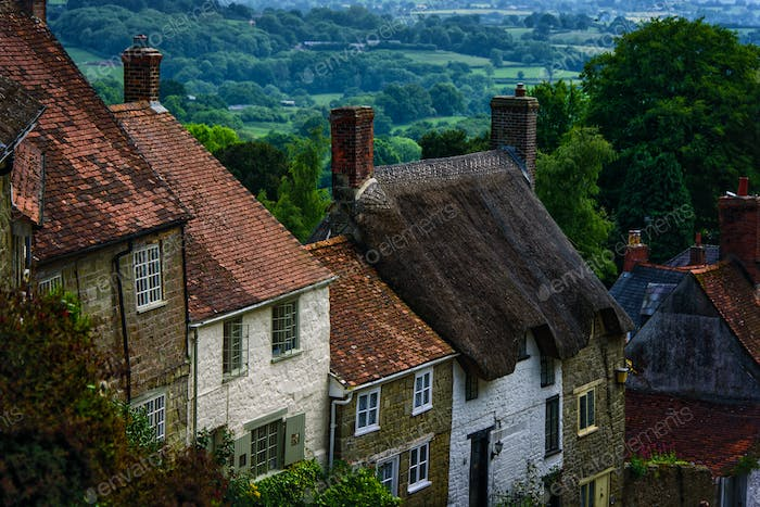 Shaftesbury village in England.