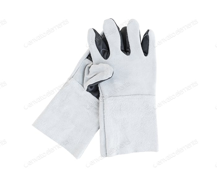 Leather gloves for welding (2)
