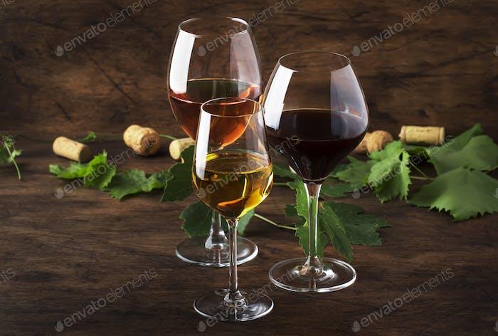 Rot-, Weiß- und Roséwein
