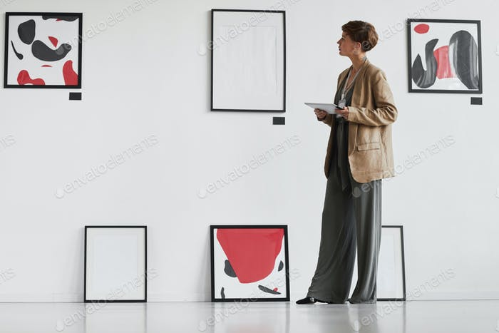 Creative Woman Managing Art Gallery