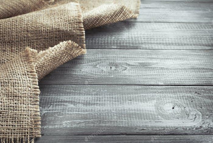 Sackleinen Sackleinen Säckung auf Holz