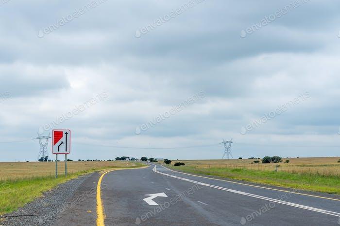 End of dual carriageway road sign on road N5