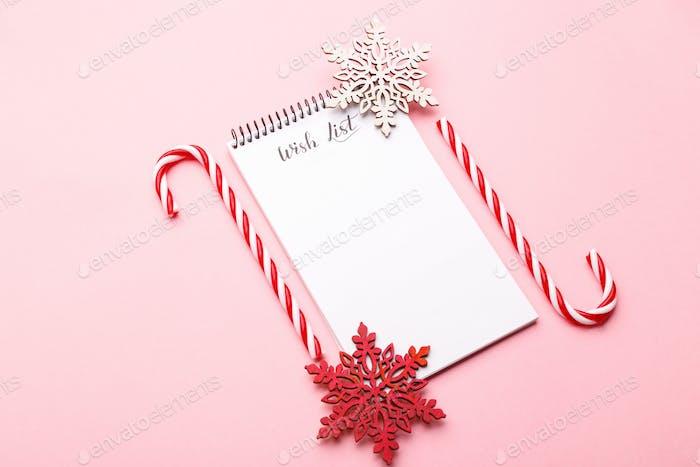 Wunschzettel für Weihnachten oder Neujahr