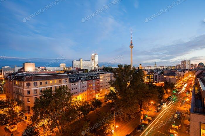 Blick über Berlin Alexanderplatz