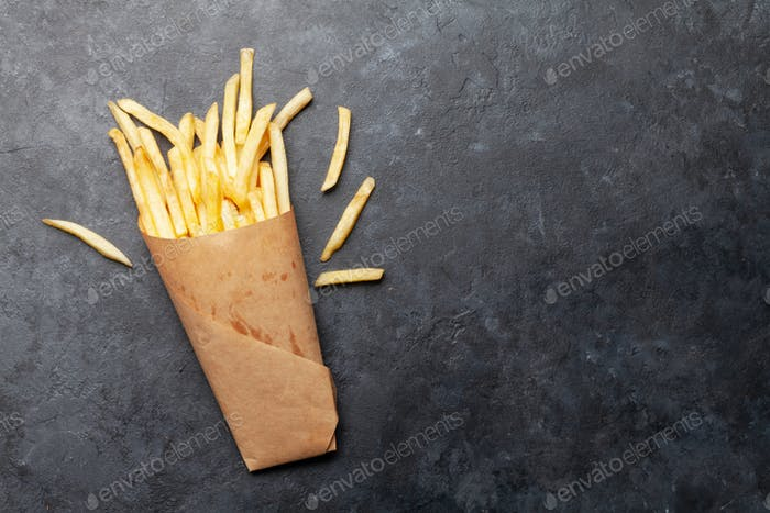 French crispy potato fries
