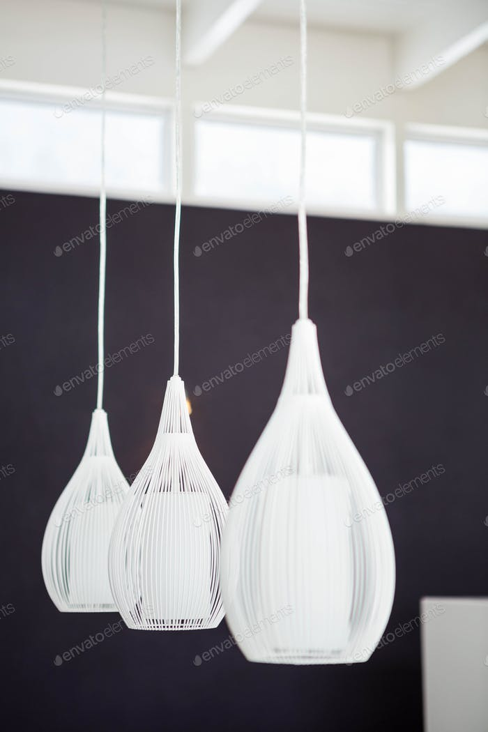 Low hanging light bulbs in the home