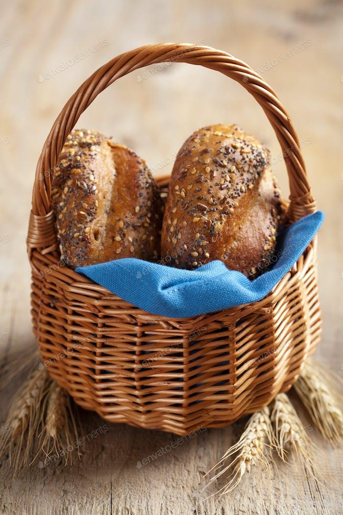 healthy bread in basket