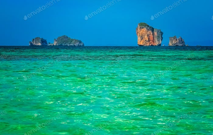 Torquise sea waters in Thailand