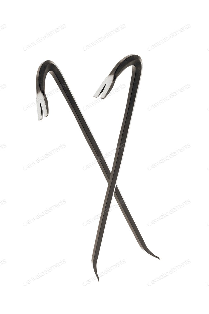 Crowbars isolated