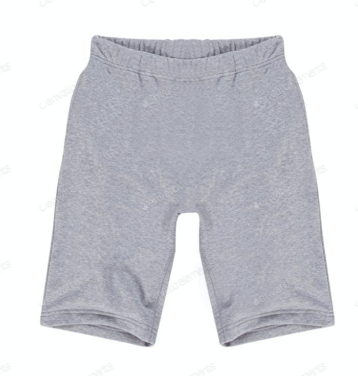 white shorts isolated on white background