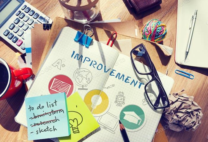 Improvement Deevlopment Enhance Refine Growth Motivation Concept