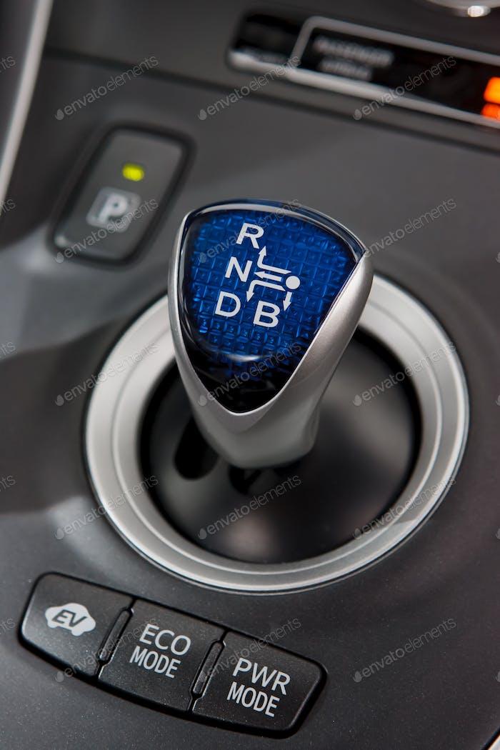 Hybrid car gear shifter
