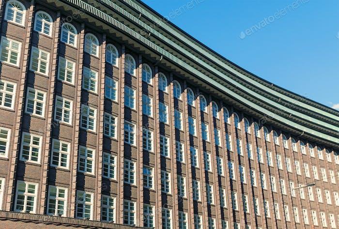 Historische Gebäudefassade in Hamburg