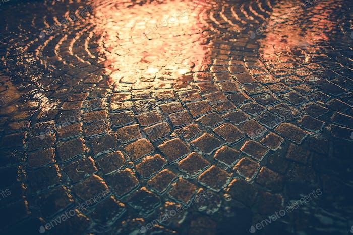 Vintage Brick Road Reflections