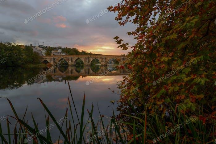 Roman bridge over the river