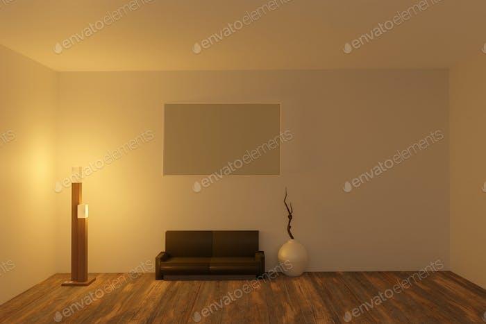 3D render of room