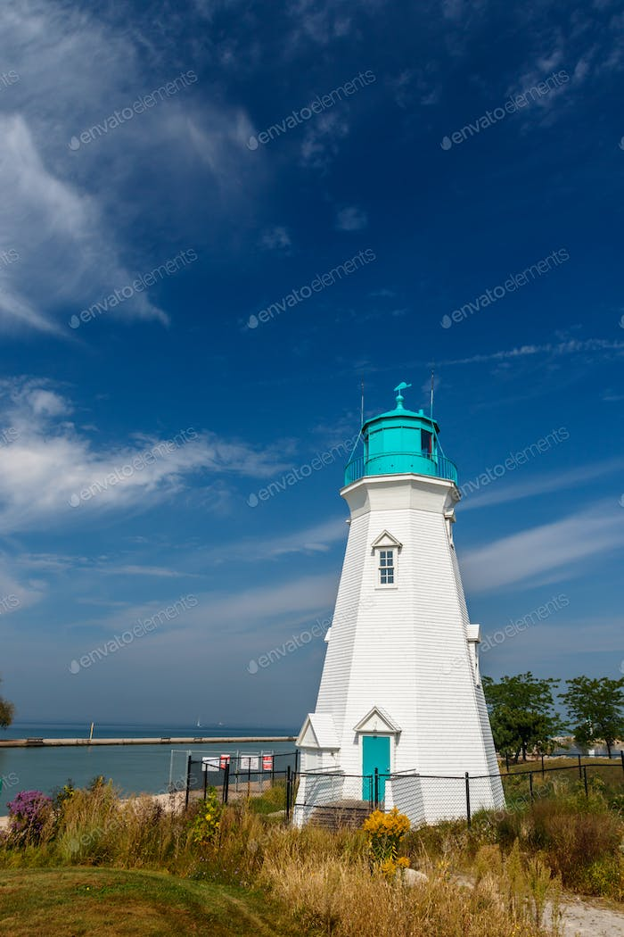 Beautiful lighthouse at Port Dalhousie Harbour, Ontario, Canada
