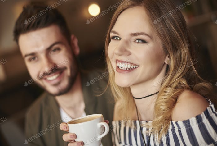 Headshot of smiley couple