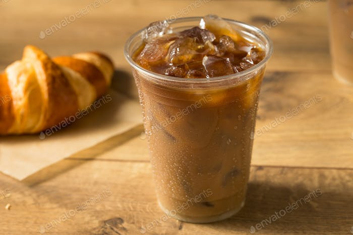 Sweet Iced Almond Milk Coffee