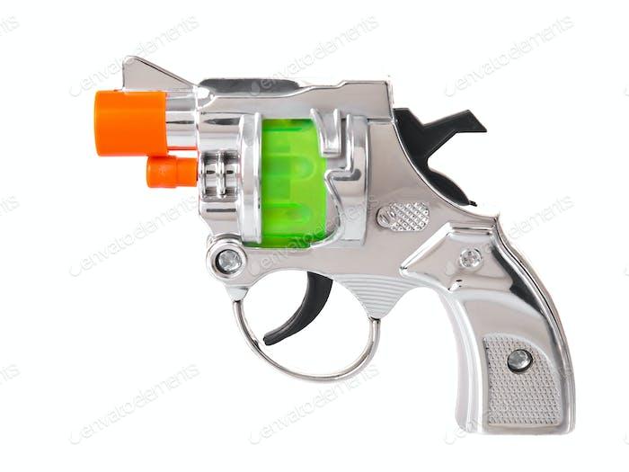 Plastic mini gun toy