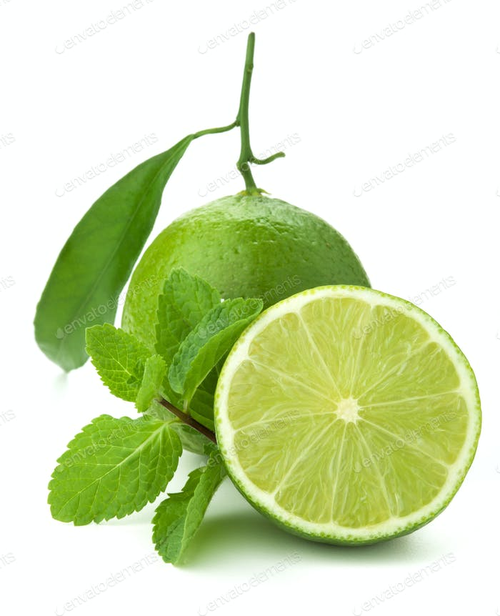 Ripe lime and mint