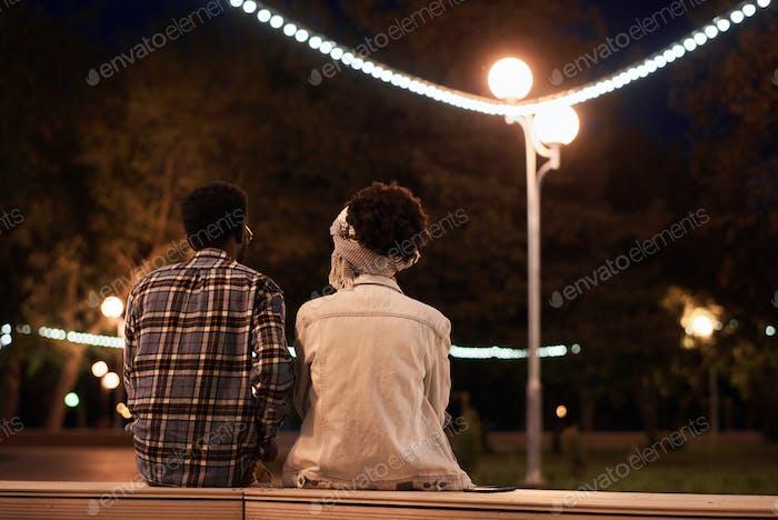 Cita romántica en el parque