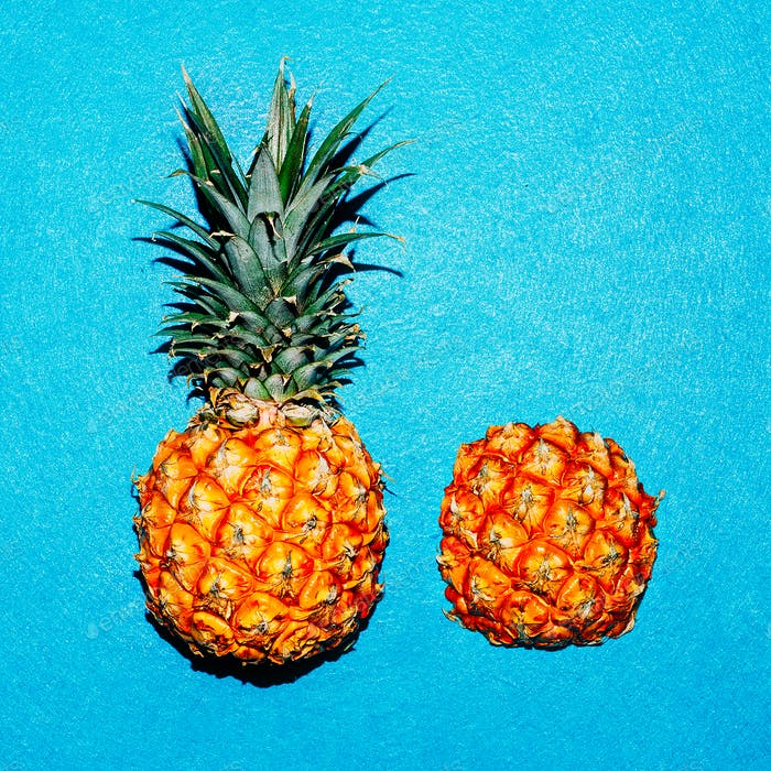 Tropical style. Minimal Pineapple Fresh