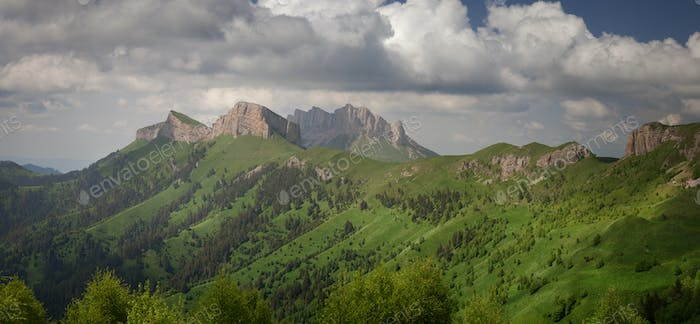 Large and small Thach. Caucasus Mountains