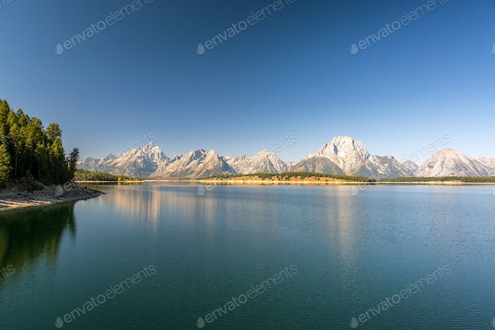 Teton Range over Jackson Lake