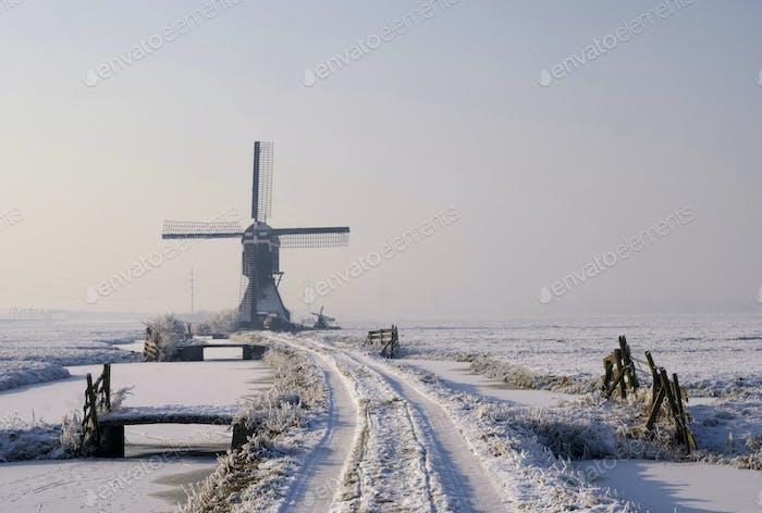 Tiendwegse mill in winter