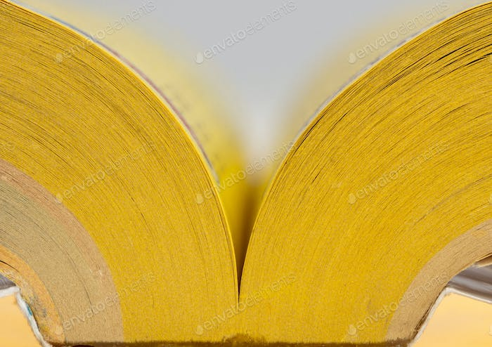 Open yellow pages book
