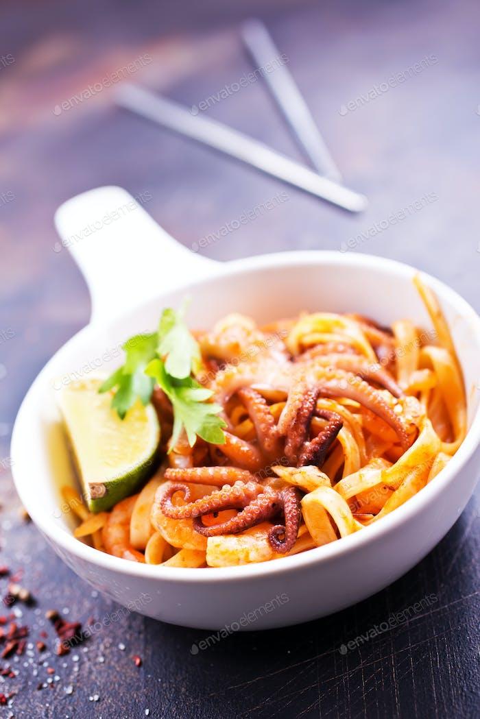 spaghetty with shrimps