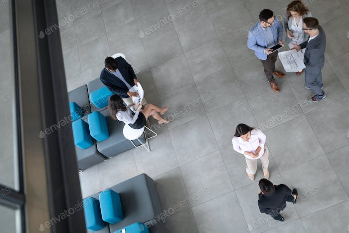 Group of architects and business people working together