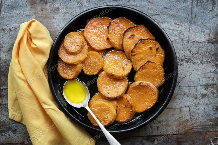 Candied Yams or Sweet Potatoes Top View