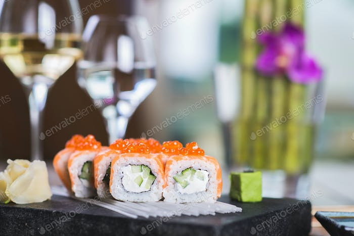 Roll set served on a plate