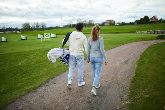 Golfers in the country