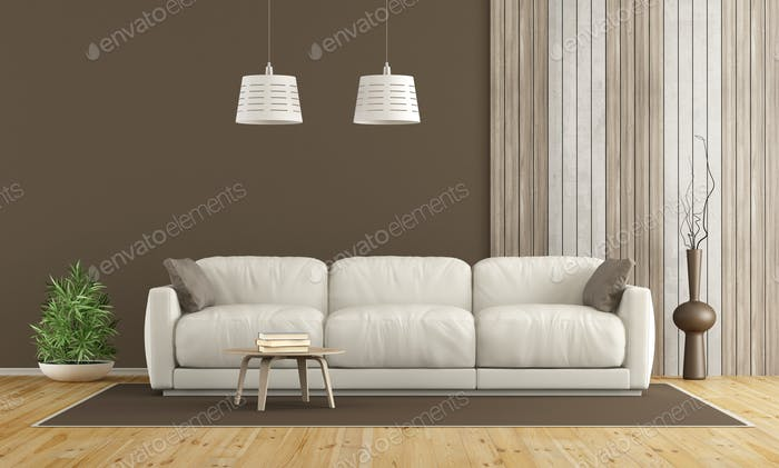 White sofa in modern living room