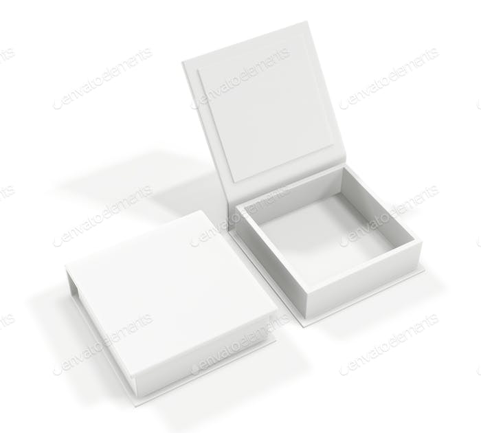 White blank cardboard box isolated on white background. Mock up template.