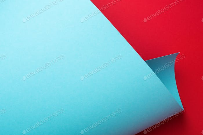 Blue and Red Curve Paper Abstract Geometric Background.